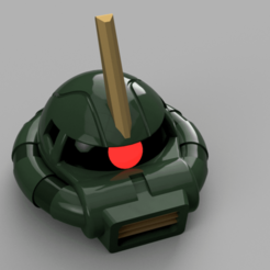 Download free STL file Zaku II Commander Helmet - Gundam • 3D printer template, Piggie