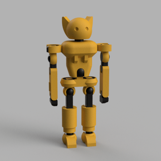 Download free 3D printing designs Floppy Boi - Articulated Robot Toy, Piggie