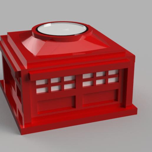 Police_box_red.png Download free STL file Police Box - Tealight holder/decoration • 3D printer model, Piggie