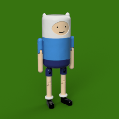 Download free 3D printer model Finn - Articulated Toy, Piggie