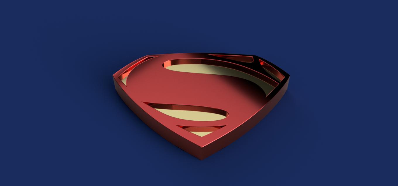 Superman.png Télécharger fichier STL gratuit Insigne de Superman • Modèle pour imprimante 3D, Piggie