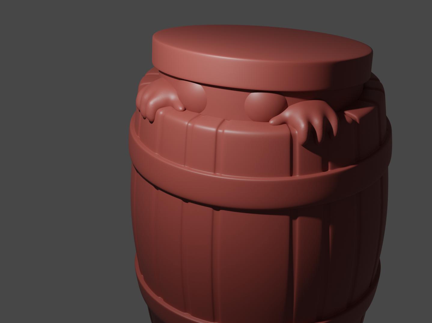 BarrelMonster.png Download free STL file Barrel Minion • 3D print template, Piggie