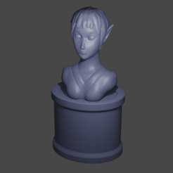 elf.png Download free STL file Elf Bust V2 • 3D printable template, Piggie
