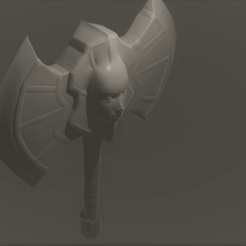 maskaxe.png Download free STL file The Angels Axe / Cosplay or RPG Prop • Template to 3D print, Piggie
