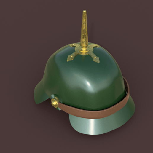 Download free 3D printer model Prussian Spike Helmet, Piggie