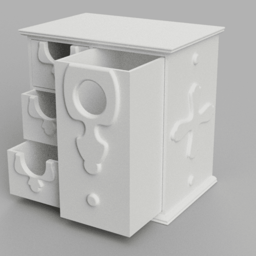 Download free 3D printer designs Antique Jewelry Box [Support free], Piggie