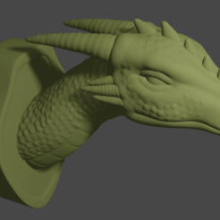 TheBiggestGame.png Download free STL file The Biggest Game - Mounted Dragon head • 3D print template, Piggie
