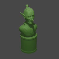Goblin.png Download free STL file Goblin Bust • Design to 3D print, Piggie