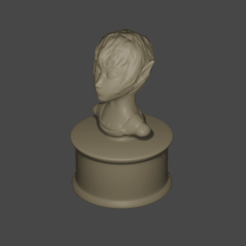 elfbust.png Download free STL file Elf Bust • 3D print design, Piggie