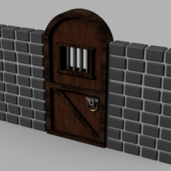 door_stone_tile.png Download free STL file Dungeon cell door • 3D printer object, Piggie