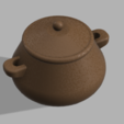 Sugar_Pot_w-lid.PNG Download free STL file Sugar Pot • 3D printable template, Piggie
