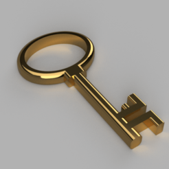 Download free STL file Old Brass Key • 3D print object, Piggie