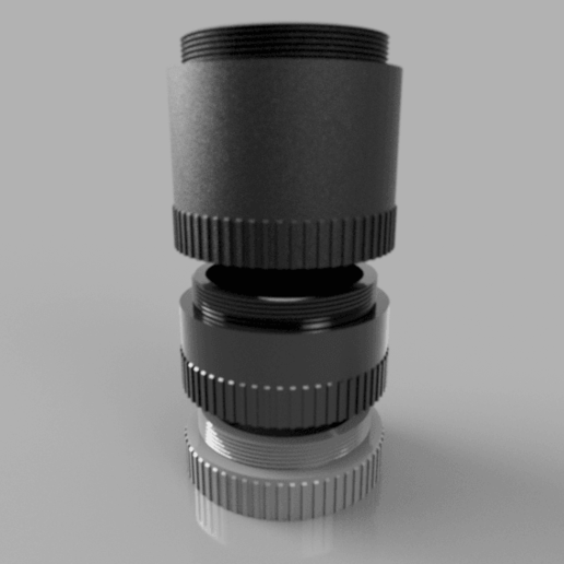 Download free 3D printer templates M42 Macro Extension Tube - 10mm/20mm/36mm, Piggie