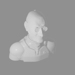 sergent.png Download free STL file Sergent Cyborg • Template to 3D print, Piggie