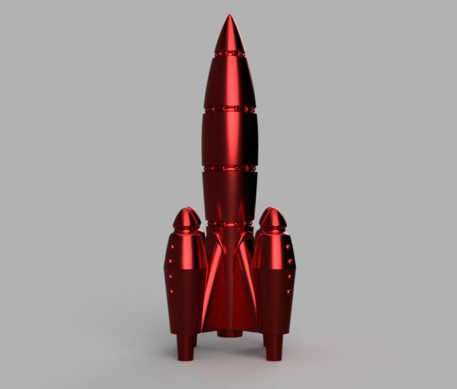 UltraRed_Rocket_v2.png Télécharger fichier STL gratuit UltraRed Rocket [Fallout Inspired] • Plan pour impression 3D, Piggie