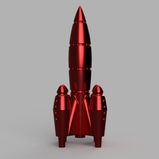 Download free STL file UltraRed Rocket [Fallout Inspired] • 3D printer object, Piggie