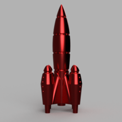 UltraRed_Rocket_v2.png Télécharger fichier STL gratuit UltraRed Rocket [Fallout Inspired] • Plan pour impression 3D, Piggie