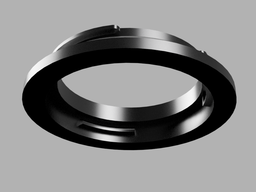 minolta_md_to_nikon_f_v2.png Télécharger fichier STL gratuit Adaptateur Minolta MC/MD vers Nikon F - DSLR • Design imprimable en 3D, Piggie
