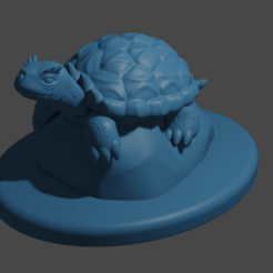 HornedTurtle.png Download free STL file Horned Turtle • 3D print model, Piggie