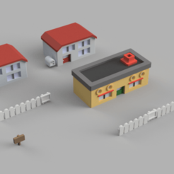 PalletTown.png Download free STL file 3D printable Pallet Town [ Pokemon! ] • 3D printing template, Piggie