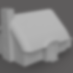 Download free 3D printing templates Medieval Hut, Piggie