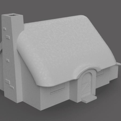 Télécharger plan imprimante 3D gatuit Cabane médiévale, Piggie