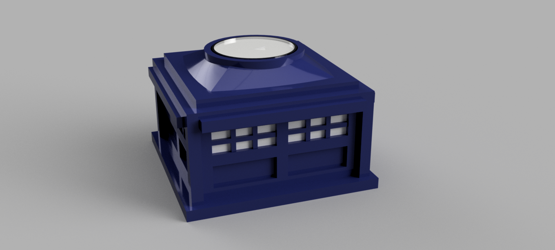 PoliceBox_-_Tealight_Holder.png Download free STL file Police Box - Tealight holder/decoration • 3D printer model, Piggie
