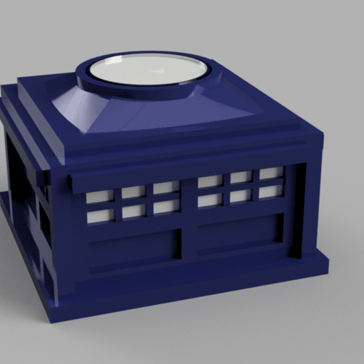 Download free STL Police Box - Tealight holder/decoration, Piggie