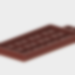 Single_Chocolate_Bar_Mould.stl Download free STL file Single Chocolate Bar Mould • 3D print template, Piggie