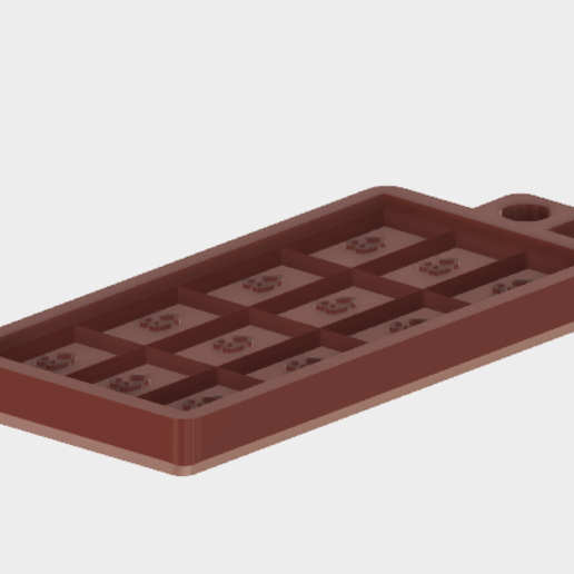 Chocomould.PNG Download free STL file Single Chocolate Bar Mould • 3D print template, Piggie