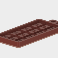 Descargar STL gratis Molde de barra de chocolate simple, Piggie