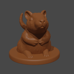 RandyRat.png Download free STL file Randy the Rat • 3D print template, Piggie