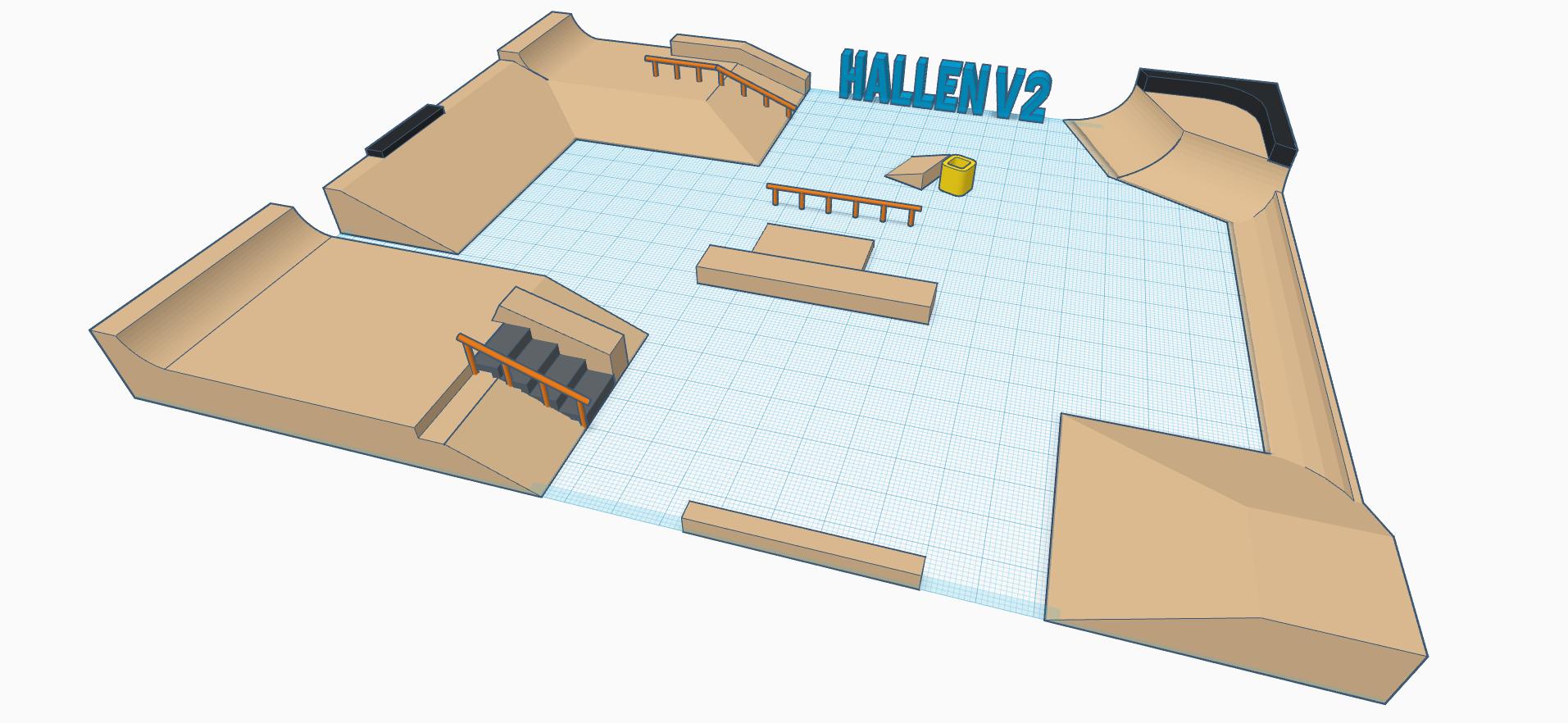 Skatehallen by Matty (1).png Télécharger fichier STL gratuit Hallen v2 • Objet pour impression 3D, mathiassag