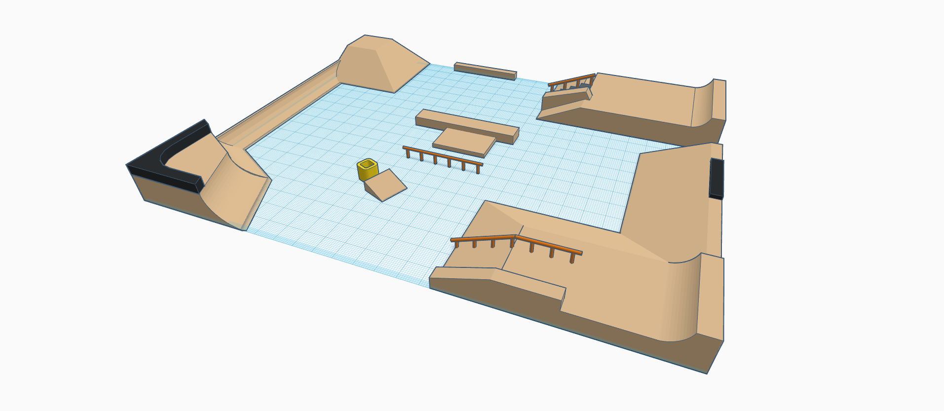 Skatehallen by Matty (3).png Télécharger fichier STL gratuit Hallen v2 • Objet pour impression 3D, mathiassag