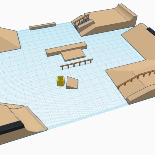 Skatehallen by Matty (2).png Télécharger fichier STL gratuit Hallen v2 • Objet pour impression 3D, mathiassag