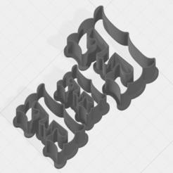 E SCK 5-7-9cm.png Télécharger fichier STL Coupe-biscuits du paquet de la lettre E • Modèle à imprimer en 3D, mandrakecr