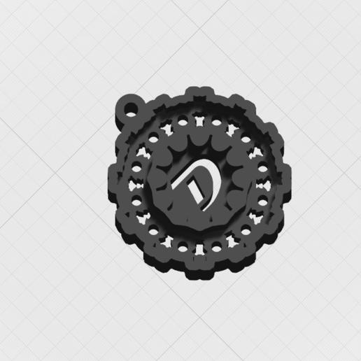 """Télécharger fichier STL Pendentif """"Lettre magique D • Objet pour impression 3D, mandrakecr"""