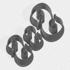 Download 3D printing templates Letter S Collection Cookie Cutter, mandrakecr