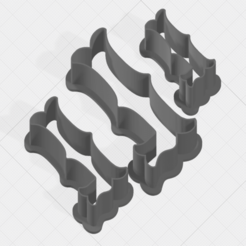 Download STL files Letter L Collection Cookie Cutter, mandrakecr