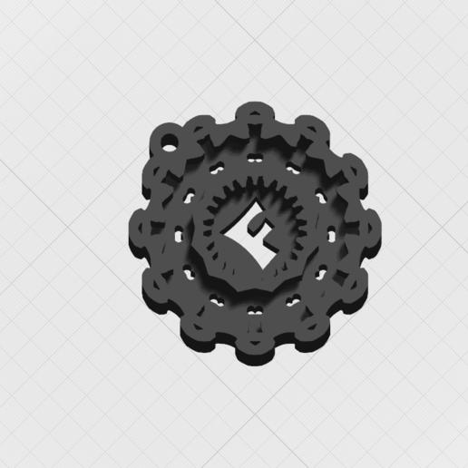 Télécharger plan imprimante 3D Pendentif Lettre magique F, mandrakecr