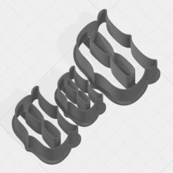 D SCK 5-7-9cm.png Télécharger fichier STL Coupe-biscuits de la collection Lettre D • Design pour imprimante 3D, mandrakecr