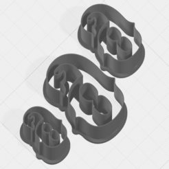 Download 3D printer model Number 6 Collection Cookie Cutter, mandrakecr