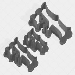 F SCK 5-7-9cm.png Télécharger fichier STL Coupe-biscuits de la collection Lettre F • Design à imprimer en 3D, mandrakecr