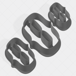 Download 3D print files Letter O Collection Cookie Cutter, mandrakecr