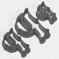 Download 3D printer designs Letter P Collection Cookie Cutter, mandrakecr