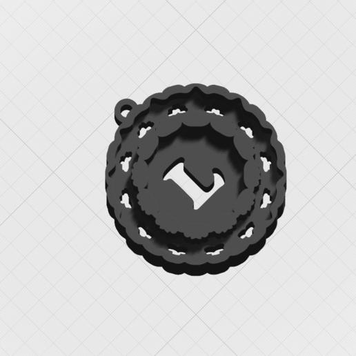"""Télécharger fichier STL Pendentif """"Magic Letter L • Objet pour impression 3D, mandrakecr"""