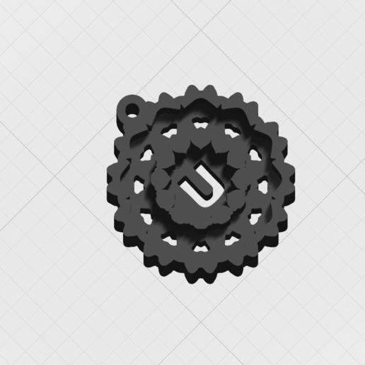 Télécharger modèle 3D Pendentif Magic Letter U, mandrakecr