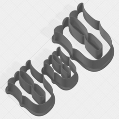 Download 3D printing files Letter U Collection Cookie Cutter, mandrakecr