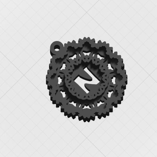 Télécharger plan imprimante 3D Pendentif Magic Letter N, mandrakecr