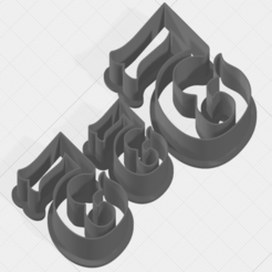Download STL Number 5 Collection Cookie Cutter, mandrakecr